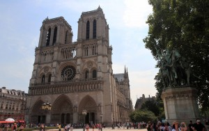 Notre-Dame Cathedral; completed in 1345 AD, it was one of the first buildings in the world to use the flying buttress.