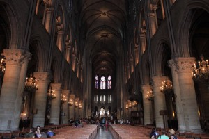 Inside Notre-Dame Cathedral.