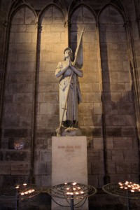 Statue of Saint Joan of Arc.