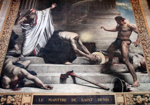 Painting of the martyrdom of Saint Denis.