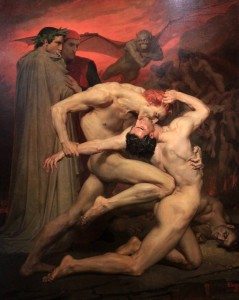 'Dante and Virgil in Hell' by William Bouguereau (1850 AD) - in the Musée d'Orsay.