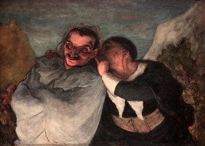 'Crispin and Scapin' by Honoré Daumier (1864 AD).