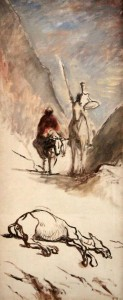 'Don Quixote and Dead Mule' by Honoré Daumier (1867 AD).