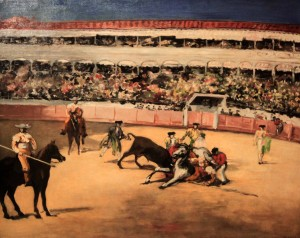 Bullfighting scene by Édouard Manet (1865/1866 AD).