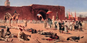 'The Last Rebels, a Scene from the History of Morocco' by Jean-Joseph Benjamin-Constant (1880 AD).