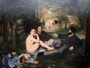 'The Luncheon on the Grass' by Édouard Manet (1863 AD).