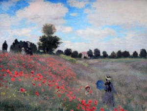 'Poppies' by Claude Monet (1873 AD).
