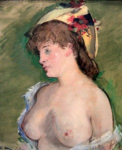 'The Topless Blonde' by Édouard Manet (1878 AD).