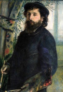 'Claude Monet' by Pierre-Auguste Renoir (1875 AD).