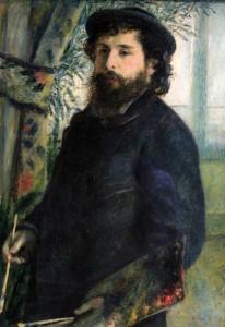 'Claude Monet' by Pierre-Auguste Renoir (1875 AD).