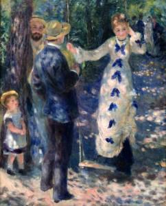 'The Swing' by Pierre-Auguste Renoir (1876 AD).