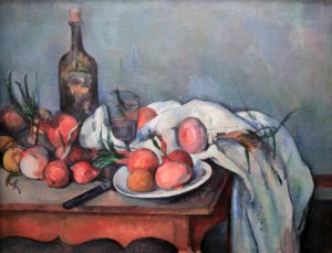 'Still Life with Onions' by Paul Cézanne (ca. 1896-1898 AD).