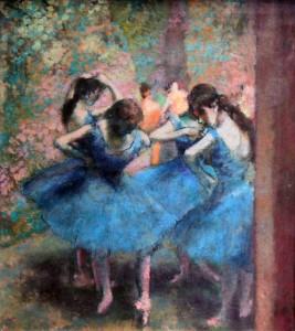 'Blue Dancers' by Edgar Degas (1893 AD).