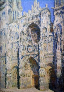 'Rouen Cathedral, Facade and the Tour d'Albane, Full Sun' by Claude Monet (1893 AD).