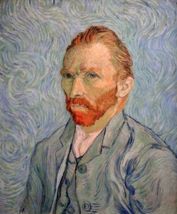 'Self-Portrait' by Vincent van Gogh (1889 AD).