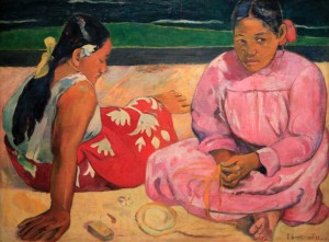 'Tahitian Women on the Beach' by Paul Gauguin (1891 AD).