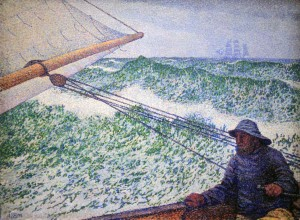 'The Man at the Helm' by Théo van Rysselberghe (1892 AD).