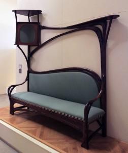 An Art Nouveau sofa.