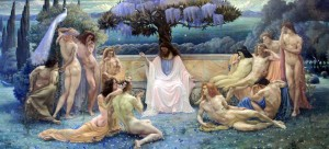 'The School of Plato' by Jean Delville (1898 AD).