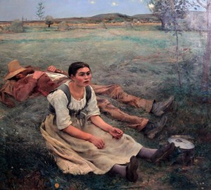 'Haymaking' by Jules Bastien-Lepage (1877 AD).