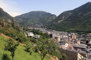 View of Andorra la Vella from the Rec del Solà.