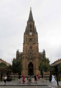 The facade of the Cathedral of the Good Shepherd.