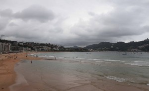 The beach at the Bay of La Concha in San Sebastian.