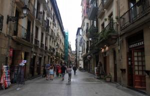Street in San Sebastian.