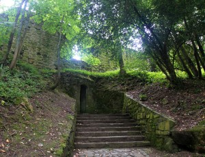Steps leading up to the Castillo de la Mota on Urgull Hill.