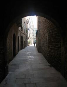 An alleyway in Barcelona.