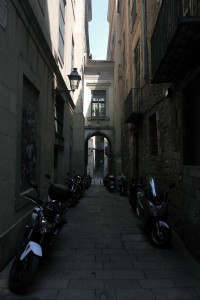 Street in the Gothic Quarter.