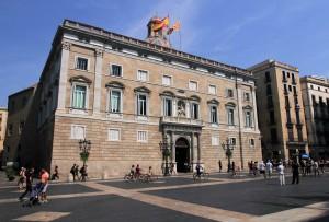"The Palace of the Generalitat at Plaça de Sant Jaume (""St. James' Square"")."
