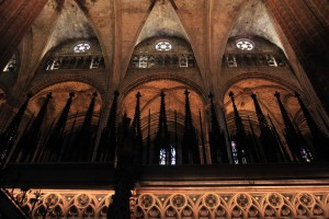 The spires above the choir stall.