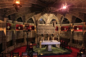 The final resting place of Saint Eulalia, inside the Cathedral's crypt.