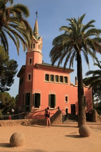 The house that Gaudí lived in from 1906 to 1925 AD (located in Park Güell).