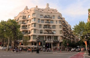 "Casa Milà (built by Gaudí in 1910 AD and is popularly known as ""La Pedrera"")."