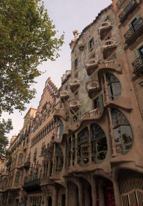 Casa Batlló and Casa Amatller.