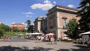 Outside the Museo del Prado in Madrid.
