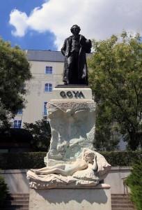 Statue of Francisco Goya.