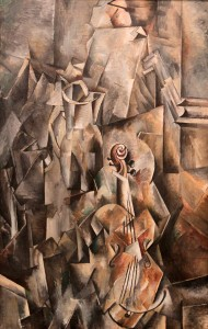 'Pitcher and Violin' by Georges Braque (1909/1910 AD).