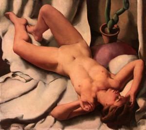 'Nude' by Roberto Fernandez Balbuena (1932 AD).