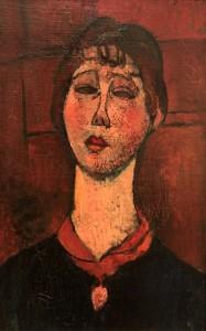 'Portrait of Madame Dorival' by Amedeo Modigliani (1916 AD).