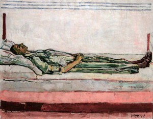 'The Dead Woman' by Ferdinand Holder (1915 AD).