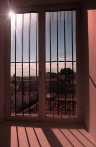 'Looking Out at the Sun Through a Window in the Museo Reina Sofía' by me (2015 AD).