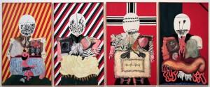 'The Four Dictators' by Eduardo Arroyo (1963 AD).