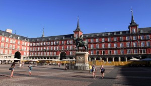 "Another view of the Plaza Mayor, which is infamous for being the site of the ""autos de fe"" against supposed heretics and where the executions of those condemned to death occurred."
