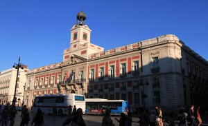 The Real Casa de Correos, seen from the Puerta del Sol.