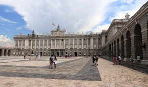 The Plaza de la Armeria at the Royal Palace of Madrid.