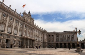 Another view of the Royal Palace of Madrid, built in the 18th-century AD and heavily renovated during the following century.