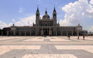 The Catedral de la Almudena, located across from the Royal Palace.